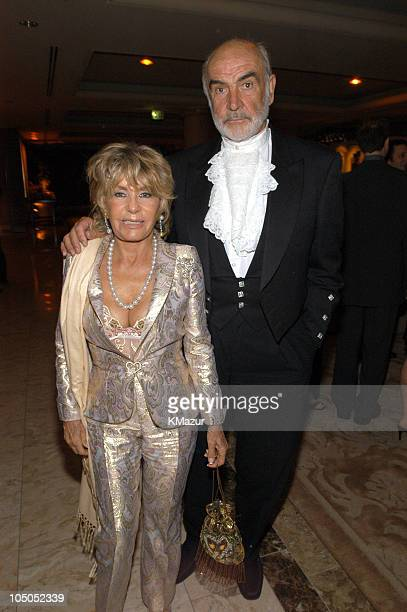 Sean Connery and his wife Micheline Roquebrune during The 75th Annual Academy Awards Miramax After Party at St Regis Hotel in Los Angeles California...