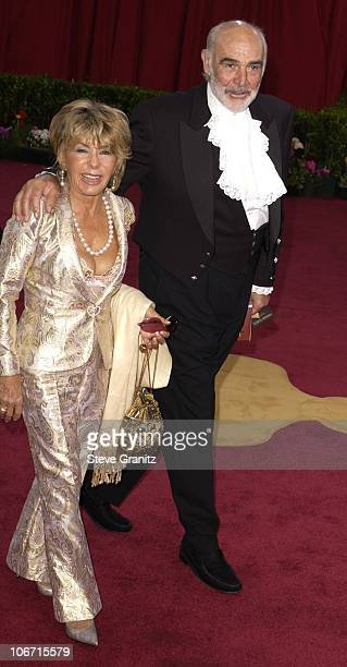 Sean Connery and his wife Micheline Roquebrune during The 75th Annual Academy Awards Arrivals at The Kodak Theater in Hollywood California United...