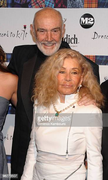 Sean Connery and Micheline Connery attend the 8th annual 'Dressed To Kilt' Charity Fashion Show at M2 Ultra Lounge on April 5 2010 in New York City