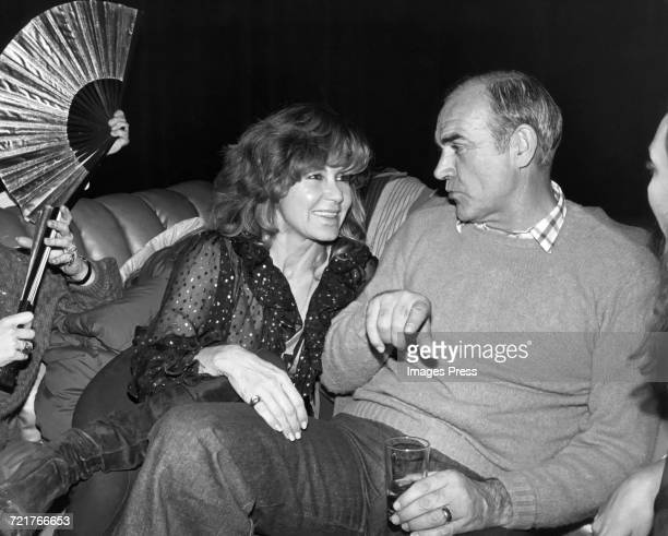 Sean Connery and wife Micheline at Studio 54 circa 1979 in New York City