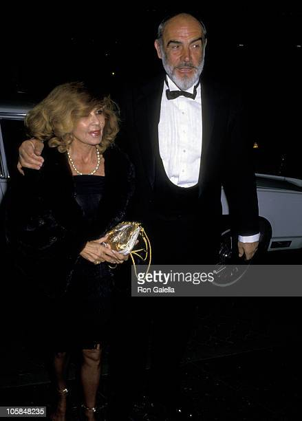Sean Connery and Wife Micheline Roquebrune during 16th Annual AFI Lifetime Achievement Award Salute to Jack Lemmon at Beverly Hilton Hotel in Beverly...