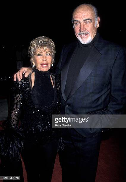 Sean Connery and Wife Micheline Roquebrune during 2001 Nortel International Film Festival at Palm Springs Convention Center in Palm Springs...