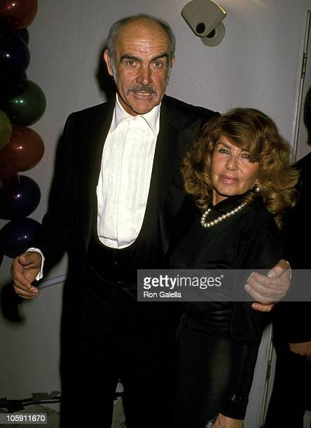 Sean Connery and Wife Micheline Roquebrune during 61st Annual Academy Awards Governor's Ball at Shrine Auditorium in Los Angeles California United...