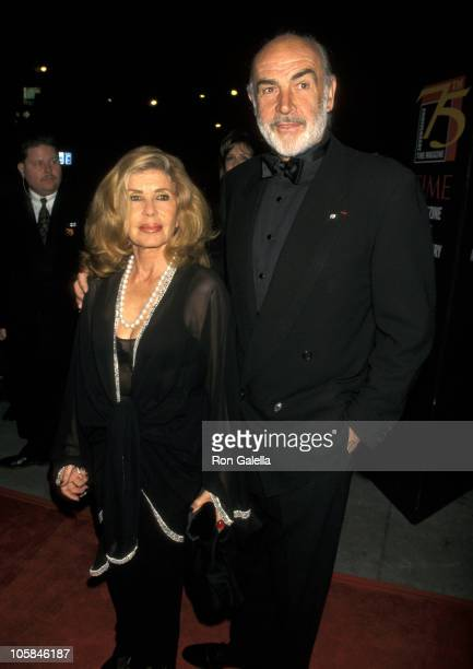 Sean Connery and Wife Micheline Roquebrune during 75th Anniversary of Time Magazine at Radio City Music Hall in New York City New York United States