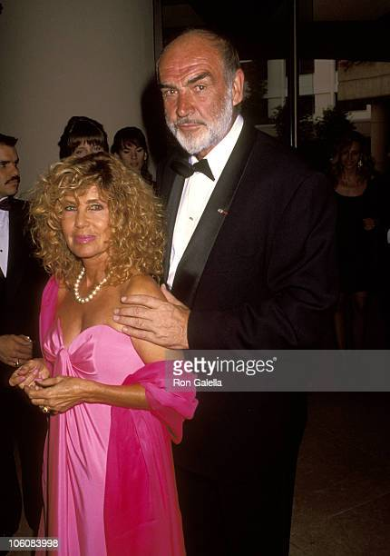 Sean Connery and Wife Micheline Roquebrune during 7th Annual American Cinematheque Award Salute to Sean Connery at Beverly Hilton Hotel in Beverly...