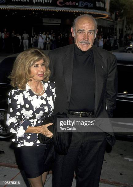 Sean Connery and Wife Micheline Roquebrune during Dragonheart Premiere at Mann Village Theatre in Westwood California United States