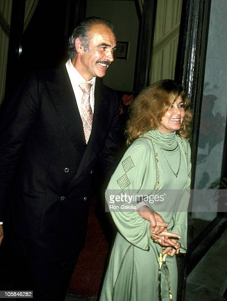 Sean Connery and Wife Micheline Roquebrune during 'Hide In Plain Sight' Premiere Party at The Beverly Wilshire Hotel in Beverly Hills California...