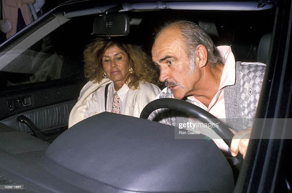 Sean Connery and Wife Micheline Roquebrune during Norris Church Art Exhibition - March 22, 1989 at Madison Galleries in Hollywood, California, United States.