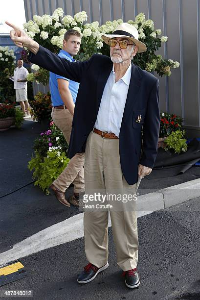 Sean Connery attends day twelve of the 2015 US Open at USTA Billie Jean King National Tennis Center on September 11 2015 in the Flushing neighborhood...