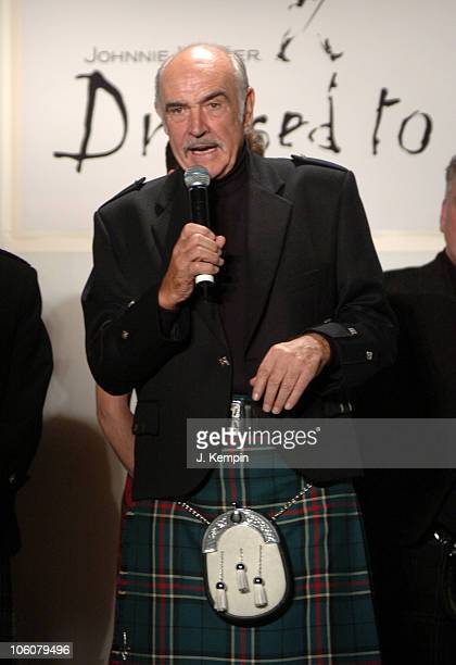 Sean Connery during 'Dressed To Kilt' Fashion Show And Charity Event April 3 2006 at St John The Divine Cathedral Garden in New York City New York...