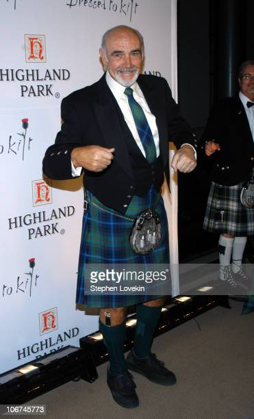 Sean Connery during Sean Connery Hosts 'Dressed To Kilt' to Benefit the Friends of Scotland Arrivals and Show at Sotheby's in New York City New York...