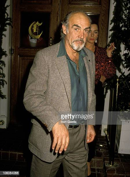 Sean Connery during Sugar Ray Leonard vs Roberto Duran Fight Screening Party at Chasen's Restaurant in Beverly Hills California United States