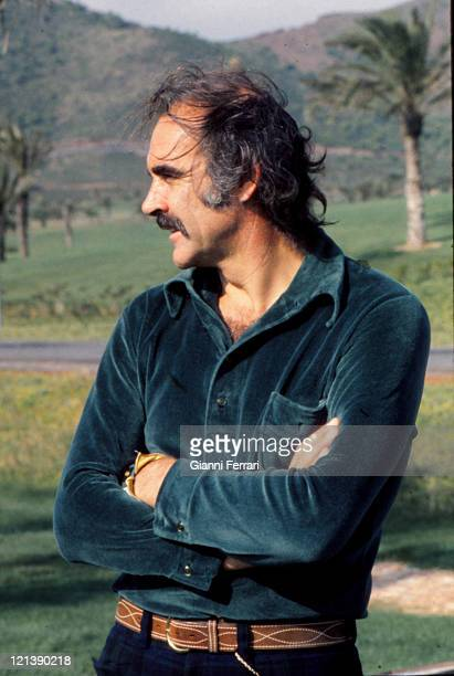 Sean Connery in the golf courses of 'La Manga del Mar Menor' 21th October 1973 Murcia Spain