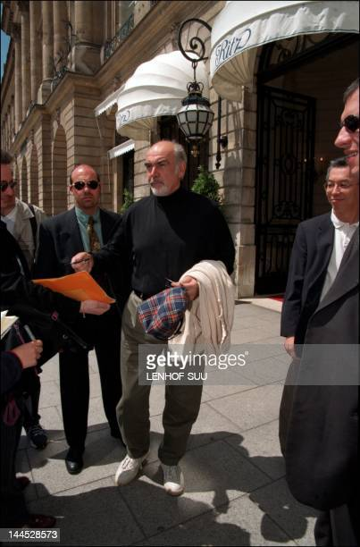Sean Connery leaving the Ritz Hotel on June 10 1998 in Paris France