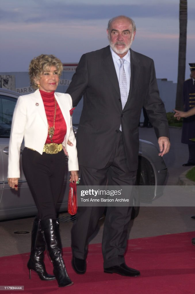 Sean Connery & wife during Laureus World Sports Awards Dinner and Silent Auction - Arrivals at Monte Carlo Sporting Club in Monte Carlo, Monaco.