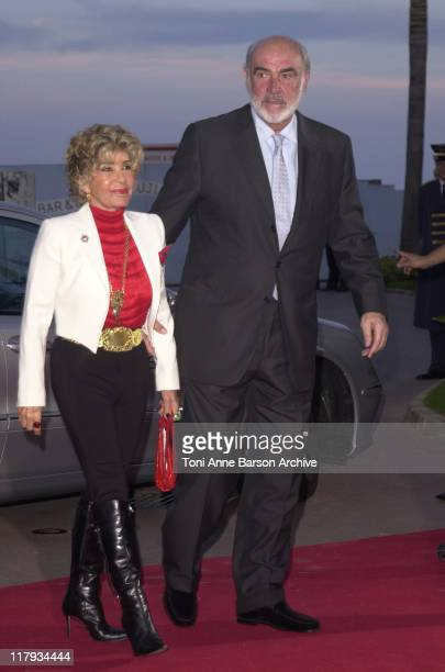 Sean Connery wife during Laureus World Sports Awards Dinner and Silent Auction Arrivals at Monte Carlo Sporting Club in Monte Carlo Monaco