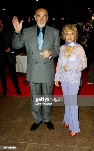 Sean Connery with his wife Micheline Roquebrune during 'The League Of Extraordinary Gentlemen' Uk Premiere at The Odeon Leicester Square in London...