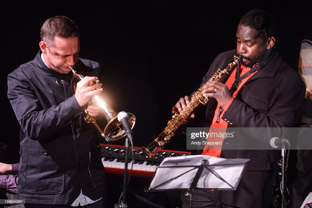 Sean Corby and Jason Yarde perform for the Jazz in the Round 2012 Christmas Special at The Cockpit Theatre on December 9, 2012 in London, England.