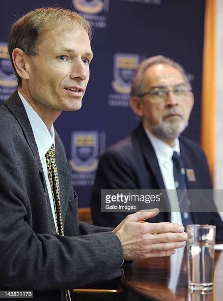 Sean Davison speaks about helping his terminally ill mother die at the University of the Western Cape on May 4 2012 in Cape Town South Africa Davison...