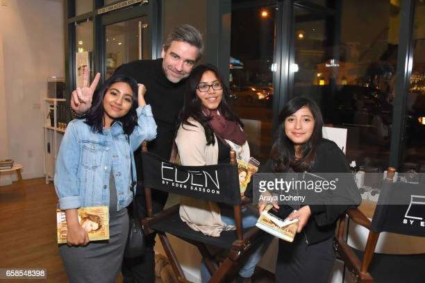 Sean Dawson and Dream Center girls attend Natasha Bure 'Let's Be Real' Los Angeles book launch party at Eden By Eden Sassoon on March 24 2017 in Los...