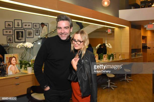 Sean Dawson and Natasha Bure attend the Natasha Bure 'Let's Be Real' Los Angeles book launch party at Eden By Eden Sassoon on March 24 2017 in Los...