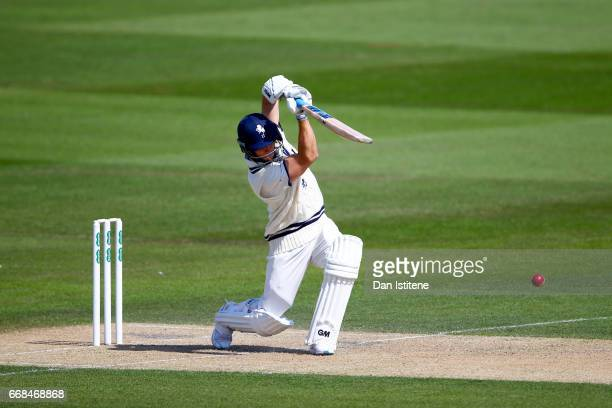 Sean Dickson of Kent bats during day one of the Specsavers County Championship Division Two match between Sussex and Kent at The 1st Central County...