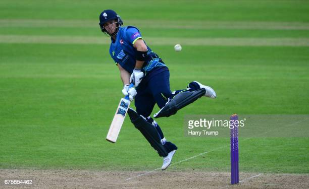 Sean Dickson of Kent bats during the Royal London OneDay Cup match between Somerset and Kent at The Cooper Associates County Ground on May 2 2017 in...