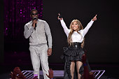 Sean 'Diddy' Combs aka Puff Daddy and Lil Kim performs onstage during the VH1 Hip Hop Honors All Hail The Queens at David Geffen Hall on July 11 2016...