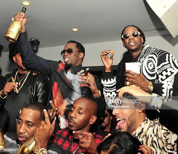 Sean 'Diddy' Combs and 2 Chainz attend the BET Hip Hop Awards 2013 Afterparty at Compound on September 28 2013 in Atlanta Georgia
