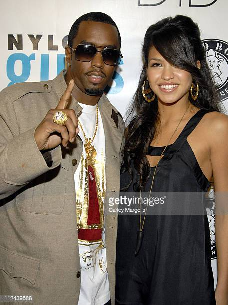 Sean 'Diddy' Combs and Cassie during Fall 2006 Issue Launch of Nylon Guys Magazine Hosted by Sean 'Diddy' Combs at Bungalow 8 in New York City New...