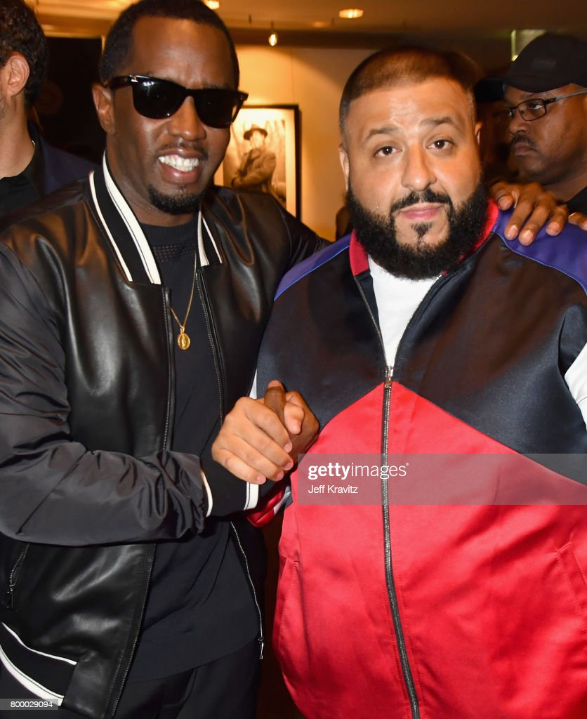 Sean 'Diddy' Combs and DJ Khaled attend HBO's 'The Defiant Ones' premiere at Paramount Studios on June 22, 2017 in Los Angeles, California.