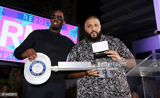 Sean Diddy Combs and DJ Khaled host the KickOff Revolt Music Conference at Eden Roc a Renaissance Beach Resort and Spa on October 13 2016 in Miami...