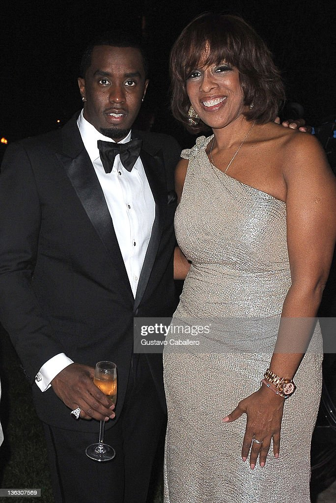 Sean 'Diddy' Combs and <a gi-track='captionPersonalityLinkClicked' href=/galleries/search?phrase=Gayle+King&family=editorial&specificpeople=215469 ng-click='$event.stopPropagation()'>Gayle King</a> attends as Sean 'Diddy' Combs Hosts CIROC The New Year 2012 At Private Miami Estate on December 31, 2011 in Miami Beach, Florida.