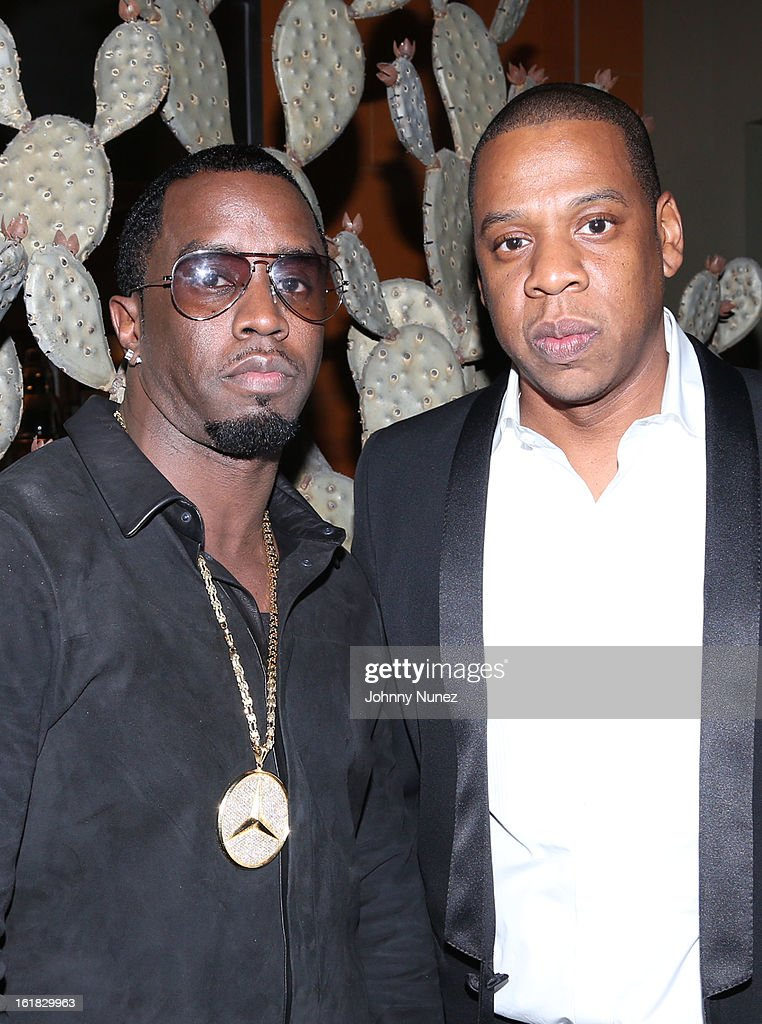 Sean 'Diddy' Combs and <a gi-track='captionPersonalityLinkClicked' href=/galleries/search?phrase=Jay-Z&family=editorial&specificpeople=201664 ng-click='$event.stopPropagation()'>Jay-Z</a> attend The Two Kings Dinner presented by Sprite at RDG + Bar Annie on February 16, 2013 in Houston, Texas.