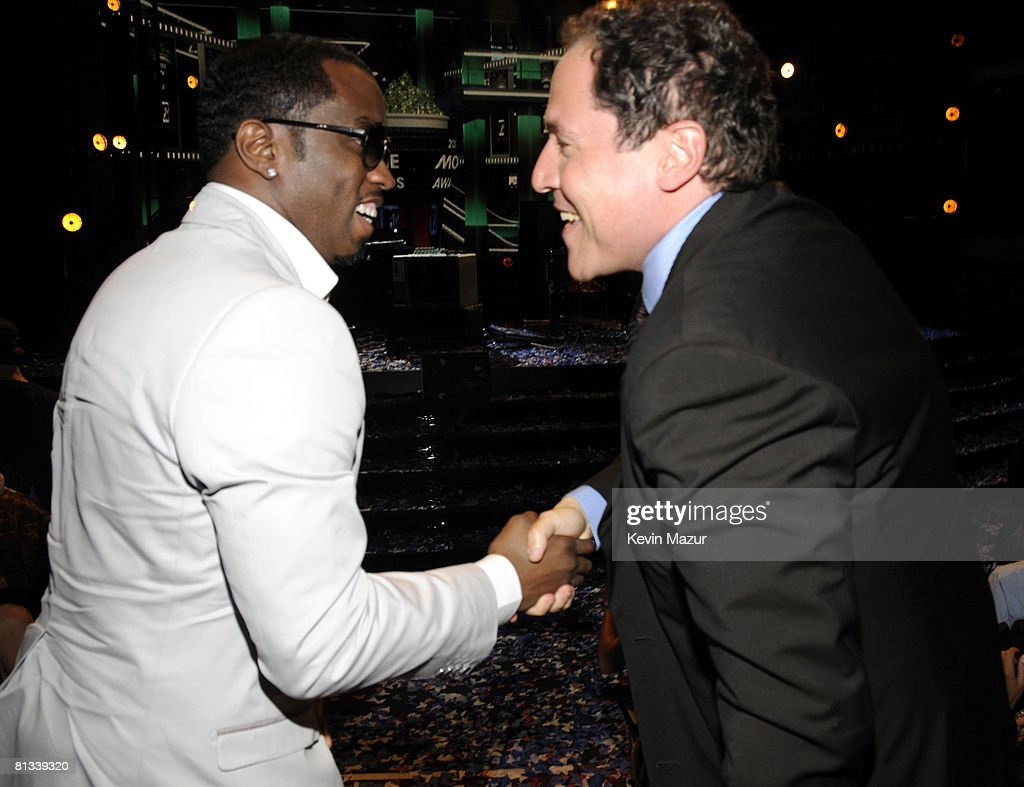 mtv movie awards backstage audience photos and images sean diddy combs and jon favreau in the audience at the 2008 mtv movie