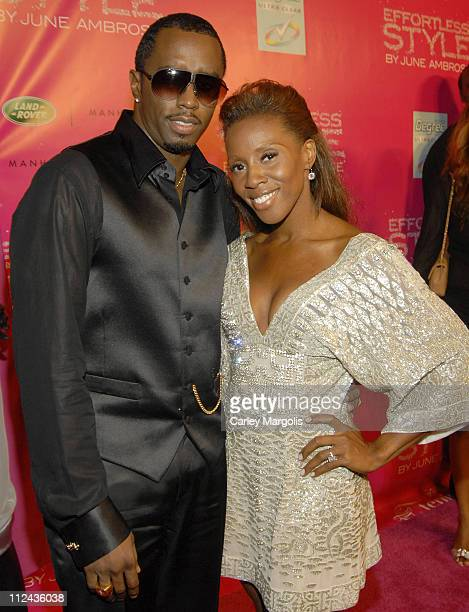 Sean 'Diddy' Combs and June Ambrose during June Ambrose Celebrates the Release of her New Book 'Effortless Style' held at Tenjune at Tenjune in New...
