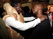 Sean 'Diddy' Combs and Kanye West backstage at the adidas Originals x Kanye West YEEZY SEASON 1 fashion show during New York Fashion Week Fall 2015...