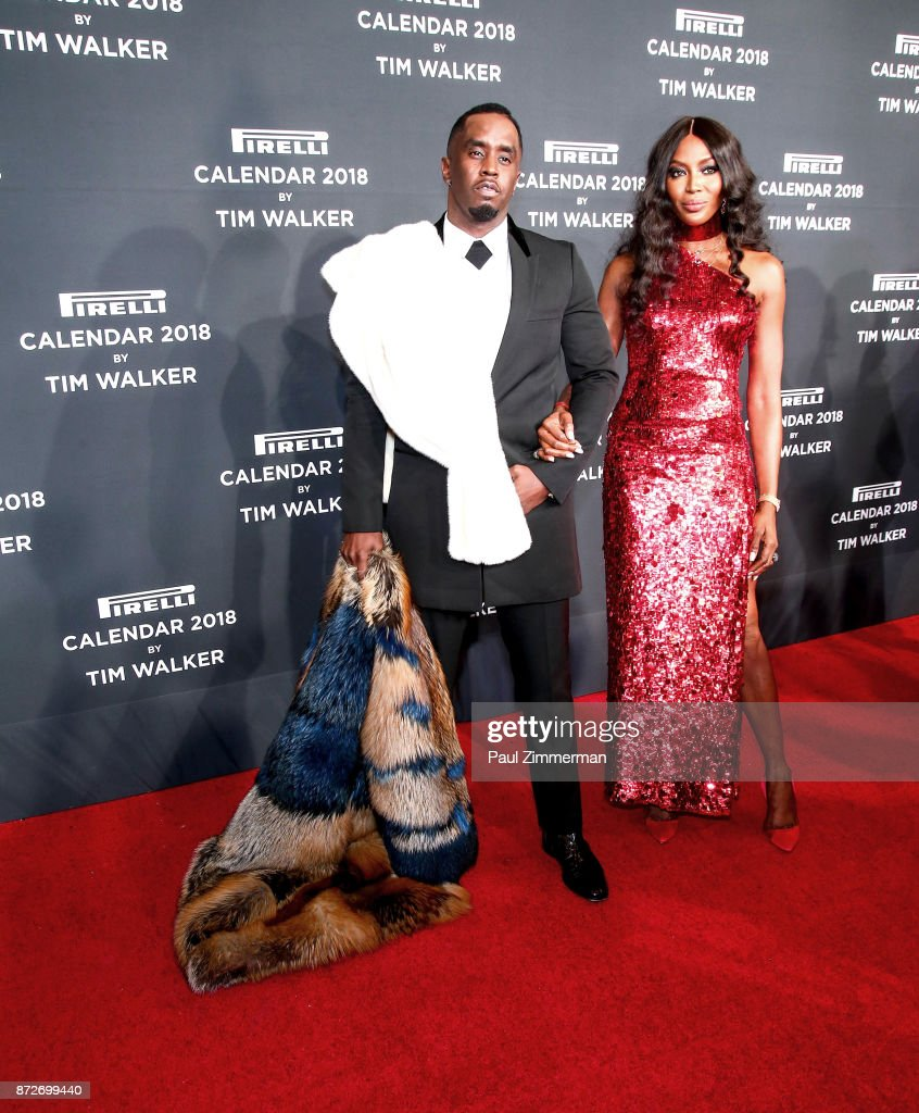 Sean 'Diddy' Combs and Naomi Campbell attend Pirelli Calendar 2018 Launch Gala at The Manhattan Center on November 10, 2017 in New York City.