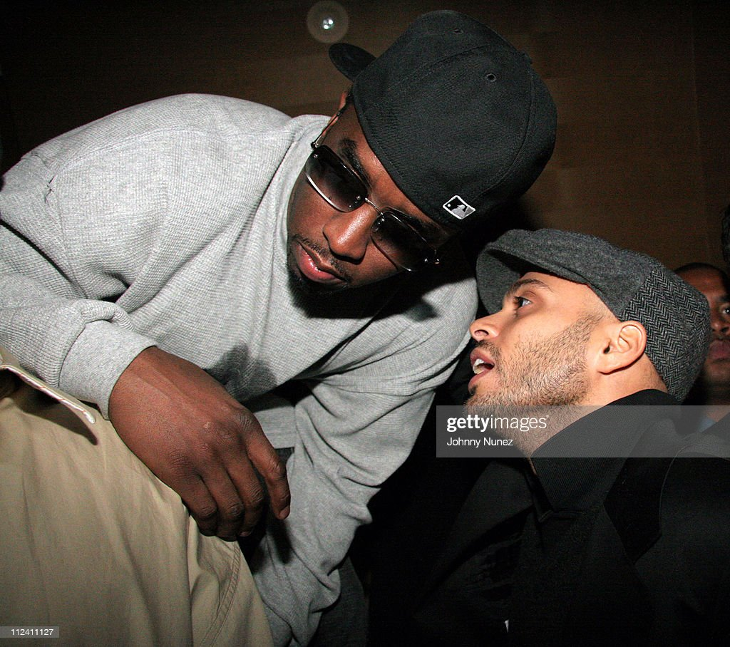 Sean 'Diddy' Combs and Richie Akiva during Notorious BIG Duets Album Listening Session October 20 2005 at Butter in New York New York United States