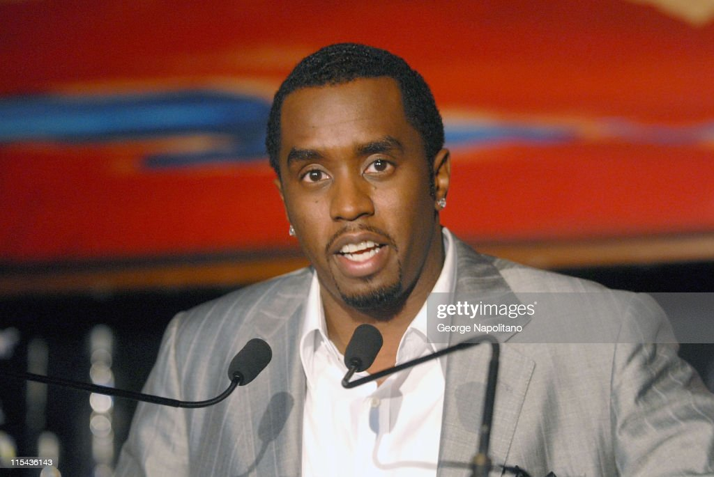 Sean 'Diddy' Combs announces his alliance with Diageo the world's leading spirits wine and beer company at a press conference at Stone Rose on...