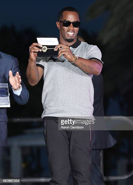 Sean 'Diddy' Combs attends 2015 REVOLT Music Conference Welcome Ceremony at Fontainebleau Miami Beach on October 15 2015 in Miami Beach Florida