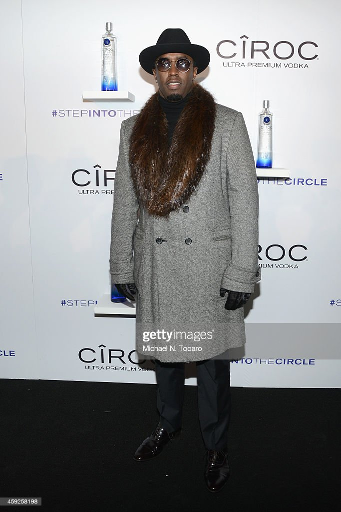 Sean Diddy Combs attends CIROC 'Step Into The Circle' Launch hosted by Sean Diddy Combs in Times Square on November 19, 2014 in New York City.