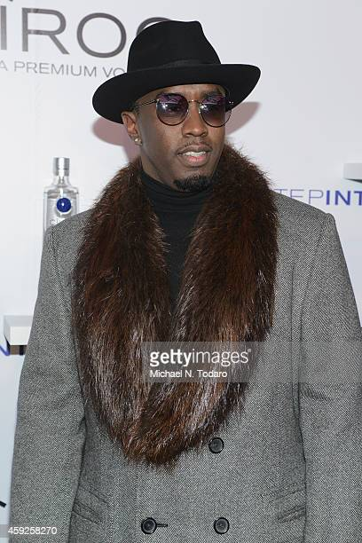 Sean Diddy Combs attends CIROC 'Step Into The Circle' Launch hosted by Sean Diddy Combs in Times Square on November 19 2014 in New York City