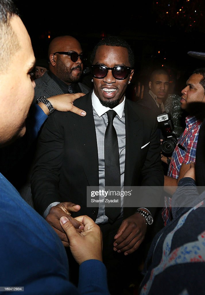 Sean 'Diddy' Combs attends the birthday celebration of DJ Enuff at The Griffin on January 30, 2013 in New York City.