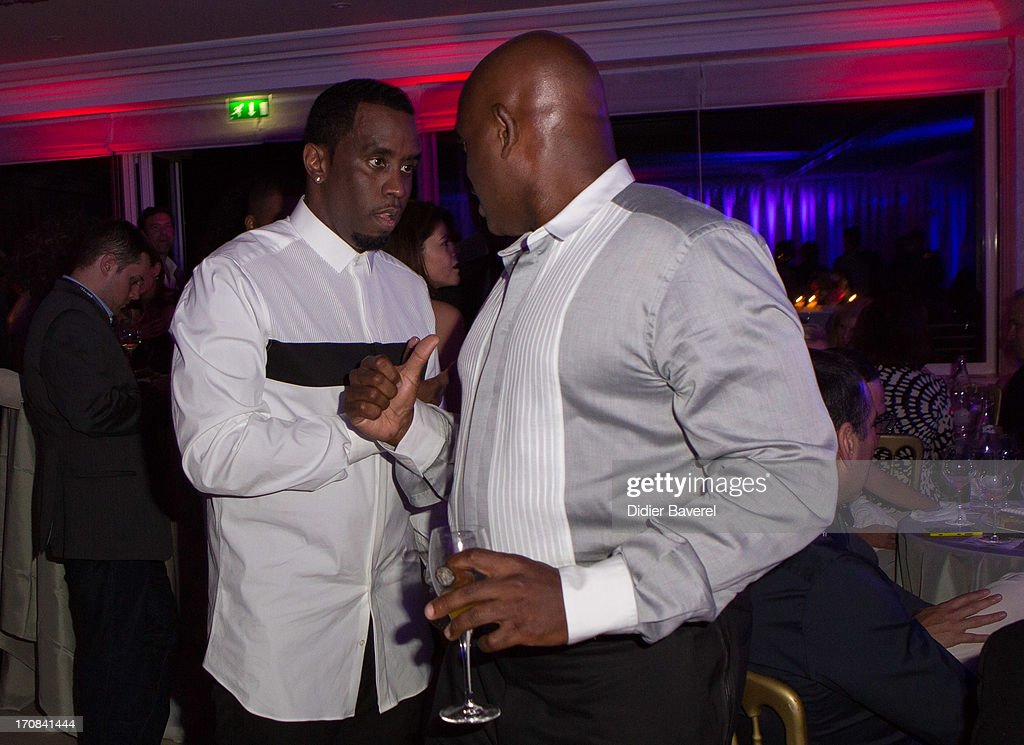 Sean 'Diddy' Combs (L) attends the Michael Buble show at Clear Channel Media and Entertainment and MediaLink VIP Event at Hotel Du Cap-Eden-Roc on June 18, 2013 in Cannes, France.