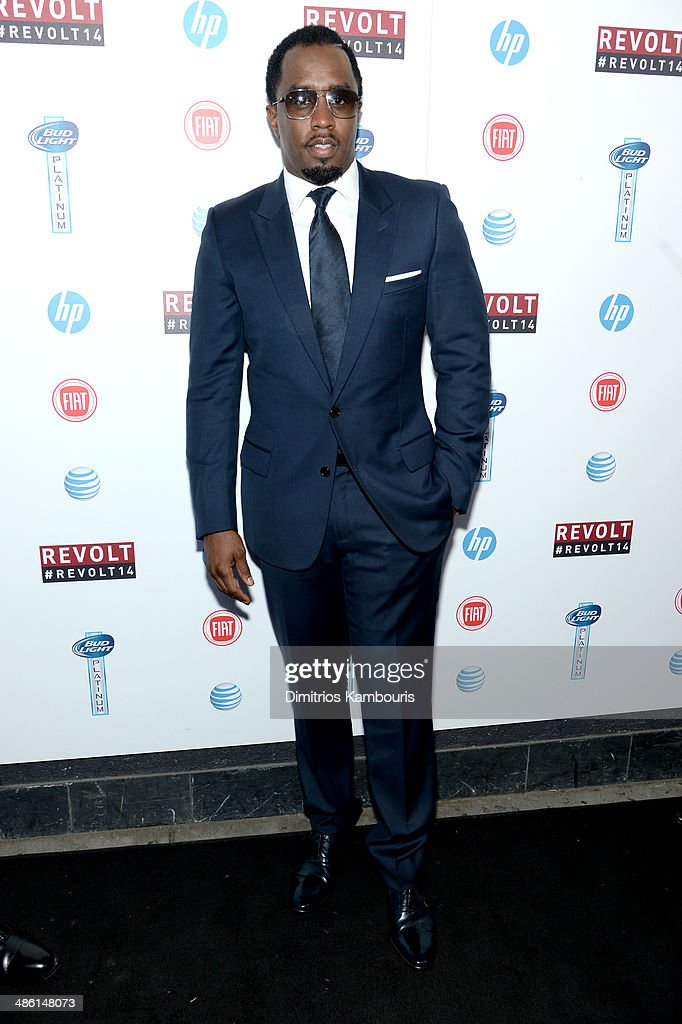 Sean 'Diddy' Combs attends the REVOLT TV First Annual Upfront presentation at Marquee on April 22, 2014 in New York City.