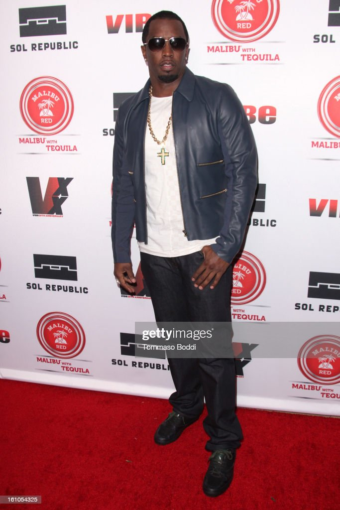 Sean 'Diddy' Combs attends the Vibe Magazine 20th anniversary celebration held at the Sunset Tower on February 8, 2013 in West Hollywood, California.