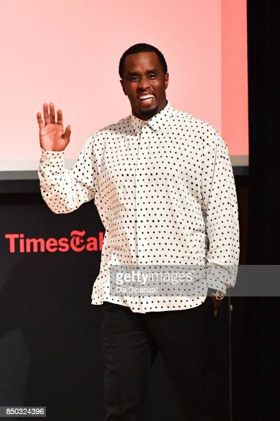 Sean 'Diddy' Combs attends TimesTalks Presents An Evening with Sean 'Diddy' Combs at The New School on September 20 2017 in New York City