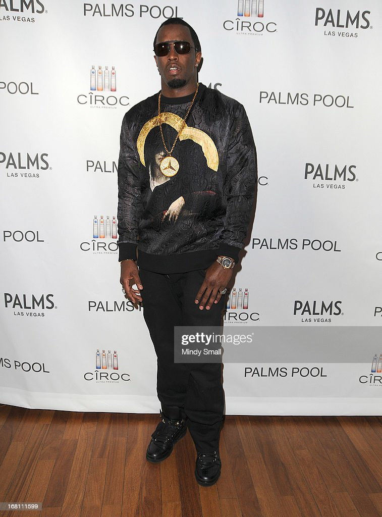 Sean 'Diddy' Combs hosts an after party soiree for Mayweather vs Guerrero at the Palms Pool on May 4, 2013 in Las Vegas, Nevada.