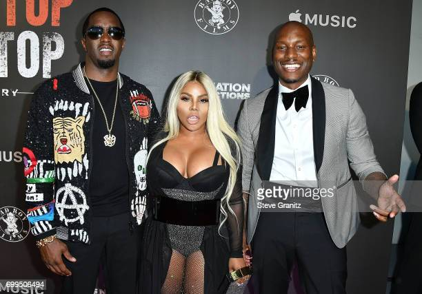 Sean 'Diddy' Combs Lil' Kim and Tyrese Gibson arrives at the Los Angeles Premiere Of 'Can't Stop Won't Stop' at Writers Guild of America West on June...